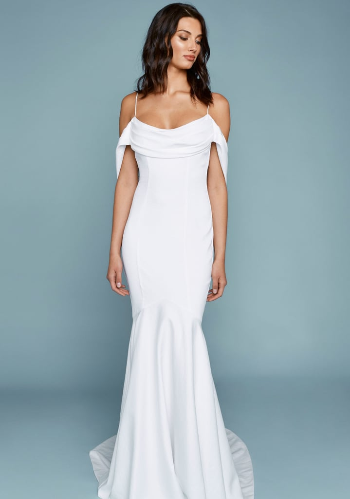Katie May Draped Off-the-Shoulder Mermaid Gown | Wedding Reception ...