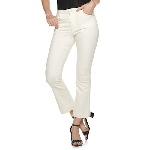 Nine West Petite Delancy High-Rise Kick Flare Jeans