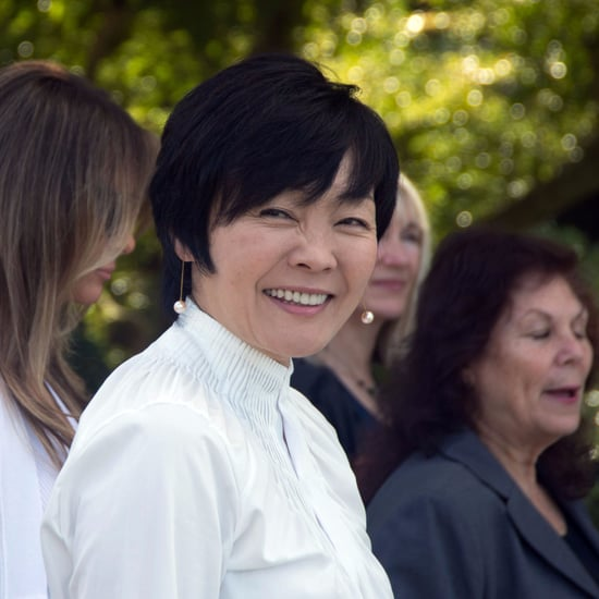 First Lady of Japan Didn't Speak English to Avoid Trump