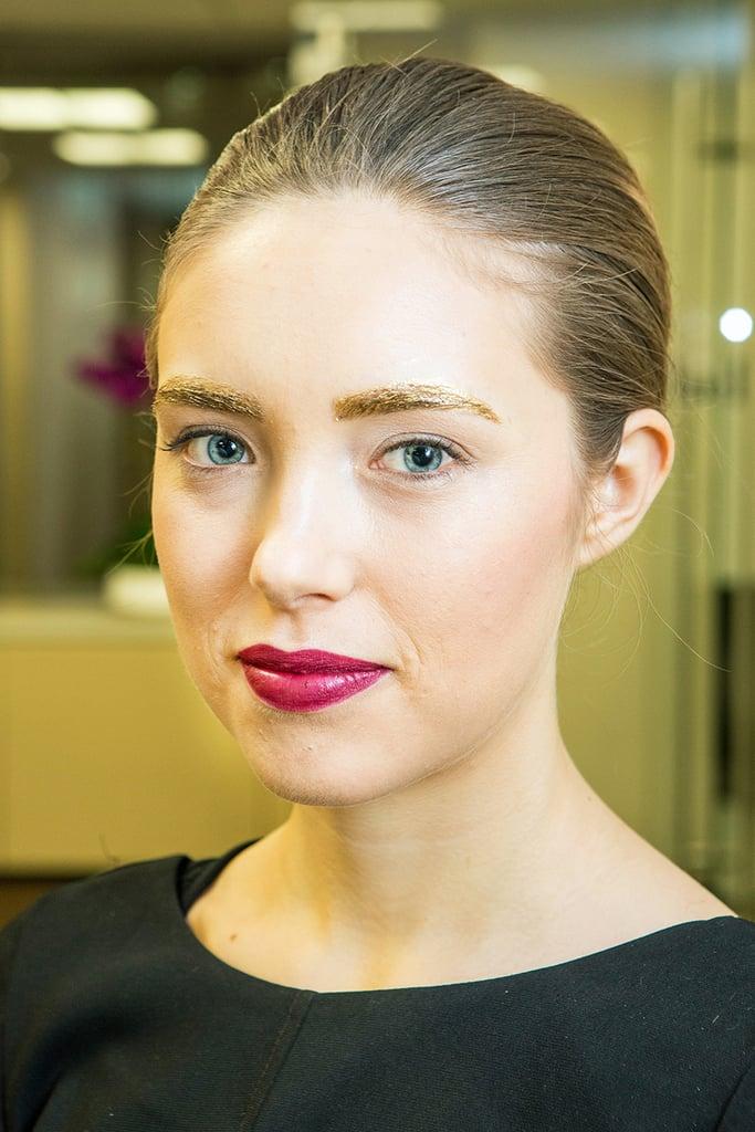 Metallic Eyebrow Makeup DIY