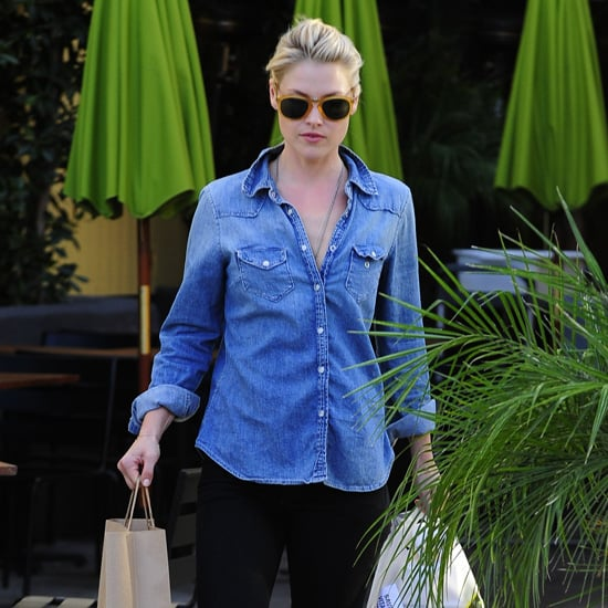 Ali Larter Wearing Denim Top