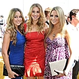 Lauren Conrad, Whitney Port, and Stephanie Pratt wore colorful looks on the 2008 MTV Movie Awards carpet.