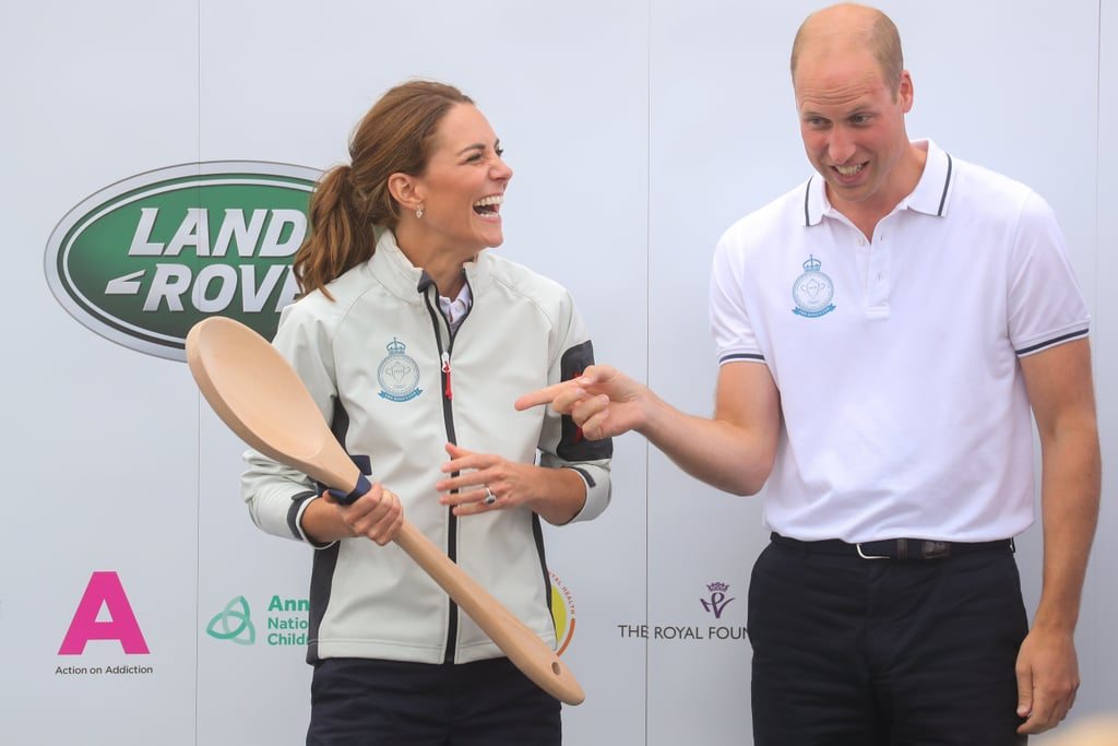 Kate Middleton was a true sport when her team came in last place at the King's Cup Race on Thursday. The Duchess of Cambridge was spotted sharing a laugh with Prince William, whose team came in third place, as she accepted a giant wooden spoon. The royal couple helped lead the special boat regatta in Cowes, England, to raise funds and awareness for eight of their royal patronages.  In addition to having some fun at sea, they were also joined by two of their adorable children, Prince George and Princess Charlotte. A toothless George was spotted enjoying the festivities in a sailor hat, while his mischievous little sister Charlotte was seen sticking out her tongue at royal admirers. See the hilarious pictures of Kate accepting her honourary spoon ahead.       Related:                                                                                                           Kate Middleton and Prince William's 2019 Is Already Filled With Cute Moments