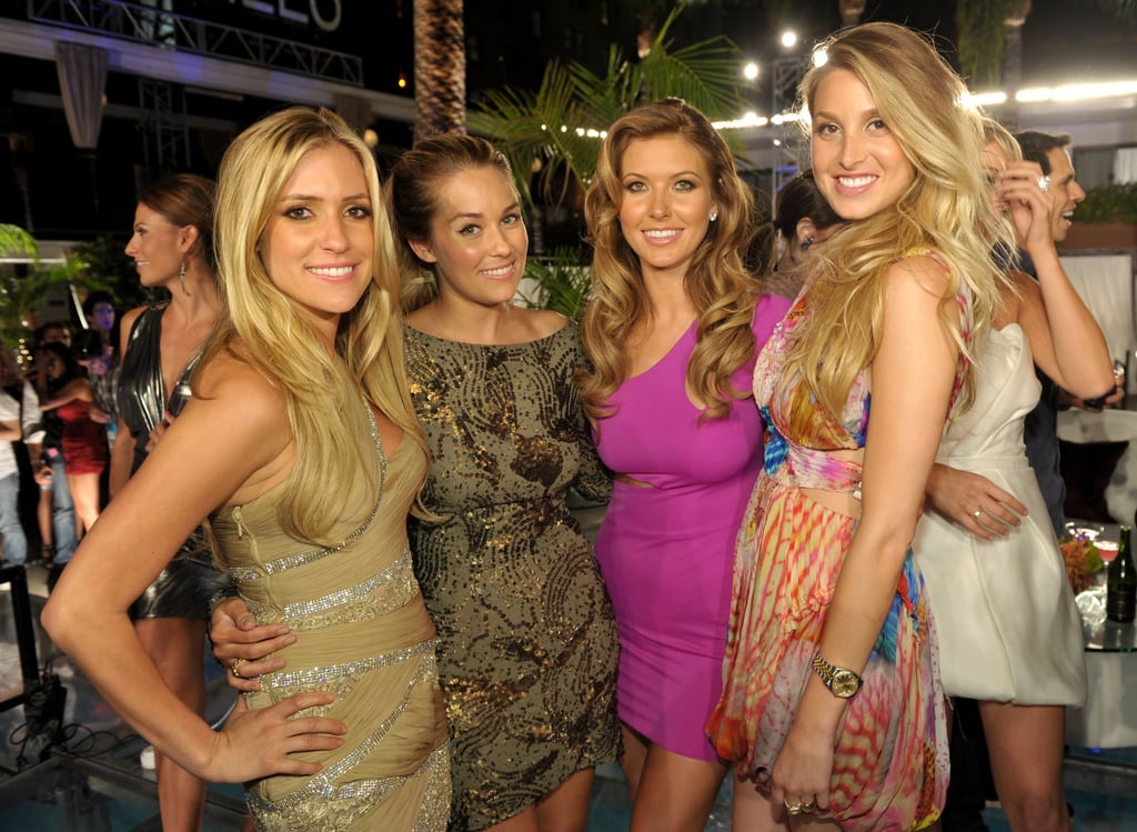 Kristin Cavallari, Whitney Port, Audrina Patridge, and Lauren Conrad celebrated the end of The Hills in LA in July 2010.
