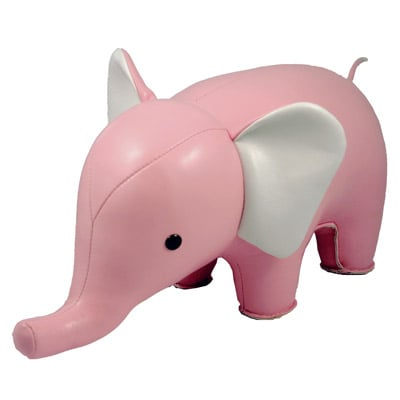 Pink Elephant Bookend