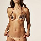Lisa Marie Fernandez Pamela Rose Gold PVC Bikini