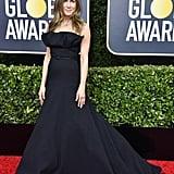 Jennifer Aniston's Sleek Black Gown at Golden Globes 2020