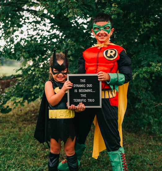 Sibling Batman and Robin Pregnancy Announcement