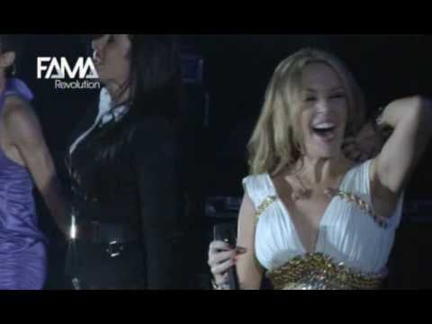 Kylie Minogue surprised by flash mob at Madrid concert performing All the Lovers