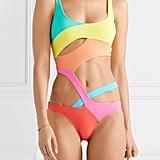 Agent Provocateur Izaro Cutout Colour-Block Swimsuit