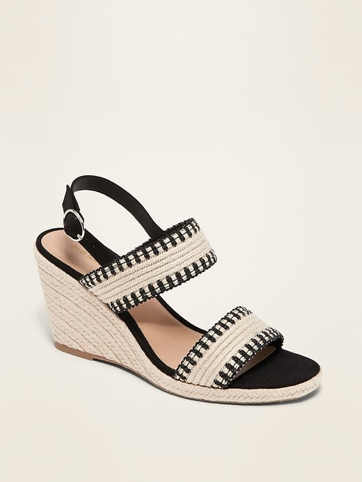 Old Navy Double-Strap Espadrille Wedge Sandals