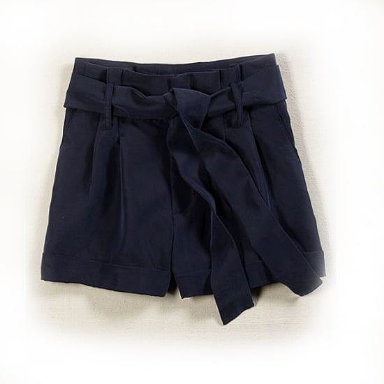 American Eagle Drapey High-Waist Shorts in Navy, $25