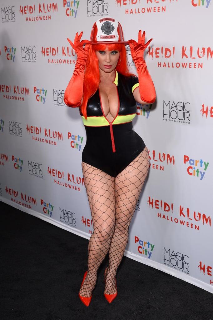 Coco Austin as a Firefighter | Heidi Klum's Halloween Party ...