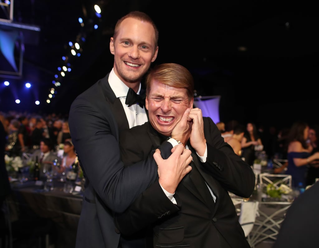 Alexander Skarsgard and Jack McBrayer at the 2018 SAG Awards