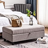 Honbay Rectangular Storage Ottoman Bench