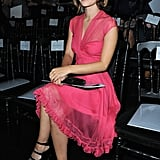 Rachel Bilson sitting so pretty in pink at Christian Dior's Spring '11 fashion show.