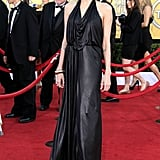 Wearing Jenny Packham to the 2012 SAG Awards.
