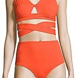 Proenza Schouler Women's Solid V-Neck Bikini Top and Bottom Set