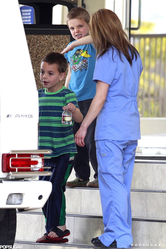 Sean Preston and Jayden James went along for the trip to the vet.
