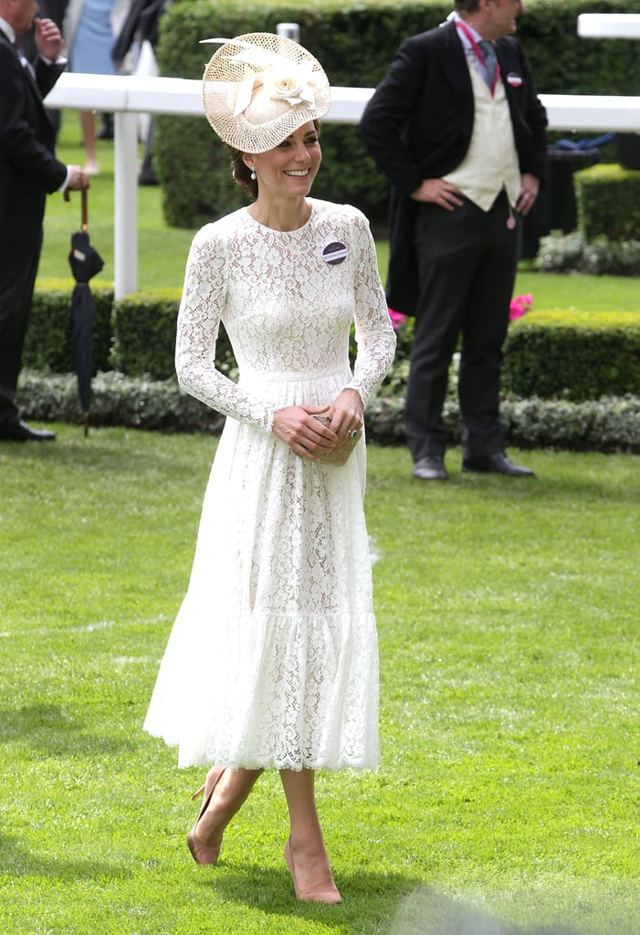 Kate Middleton Dolce And Gabbana Dress At Royal Ascot 2016