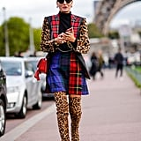 Mix Your Plaids With Animal Prints