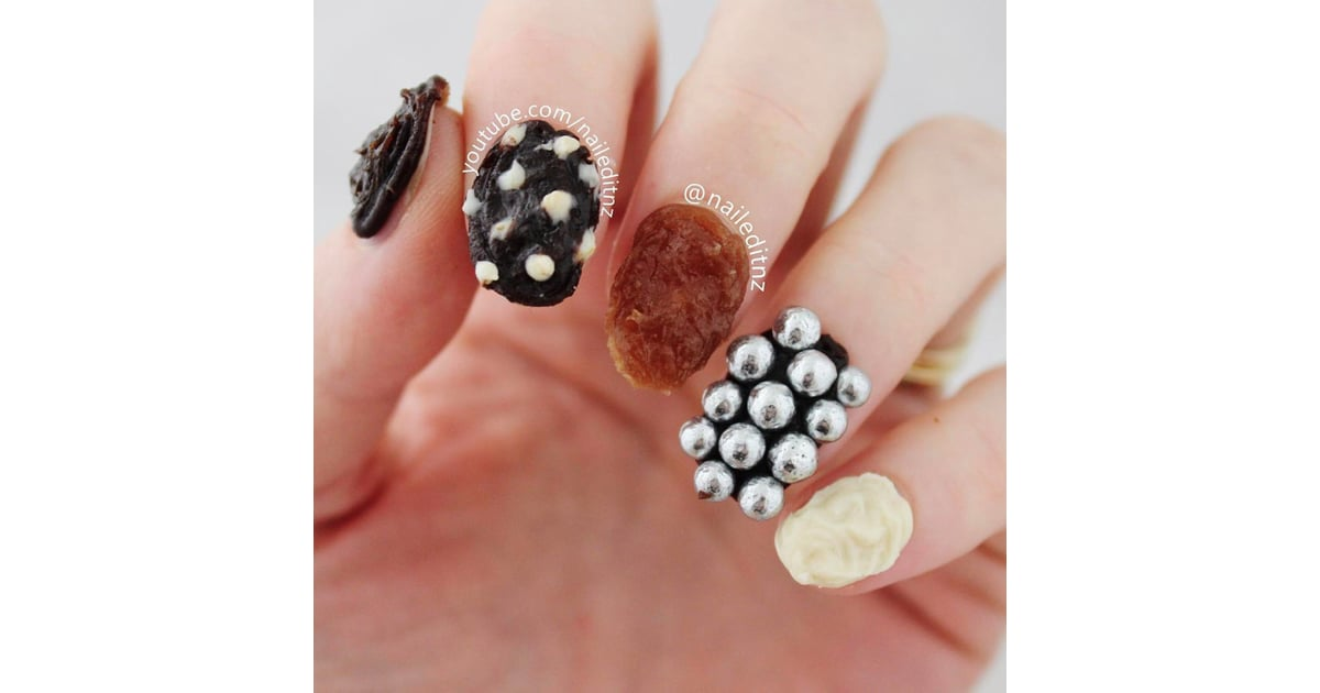 Edible Chocolate Nail Art Popsugar Beauty Uk