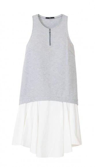 Tibi Italian ponte gray and white dress ($385)