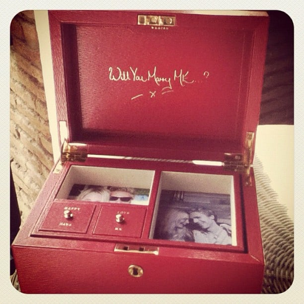 Poppy Delevingne revealed the too-cute way her boyfriend James Cook proposed to her, with a custom-made Anya Hindmarch jewellery box. Source: Instagram user poppydelevingne
