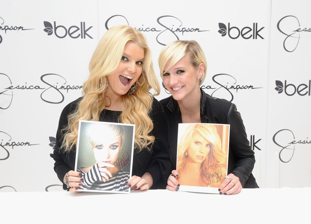 Jessica Simpson and Ashlee Simpson in NC.