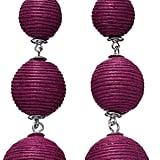 Ball Thread Wrapped Graduated Nickel Free Drop Earrings