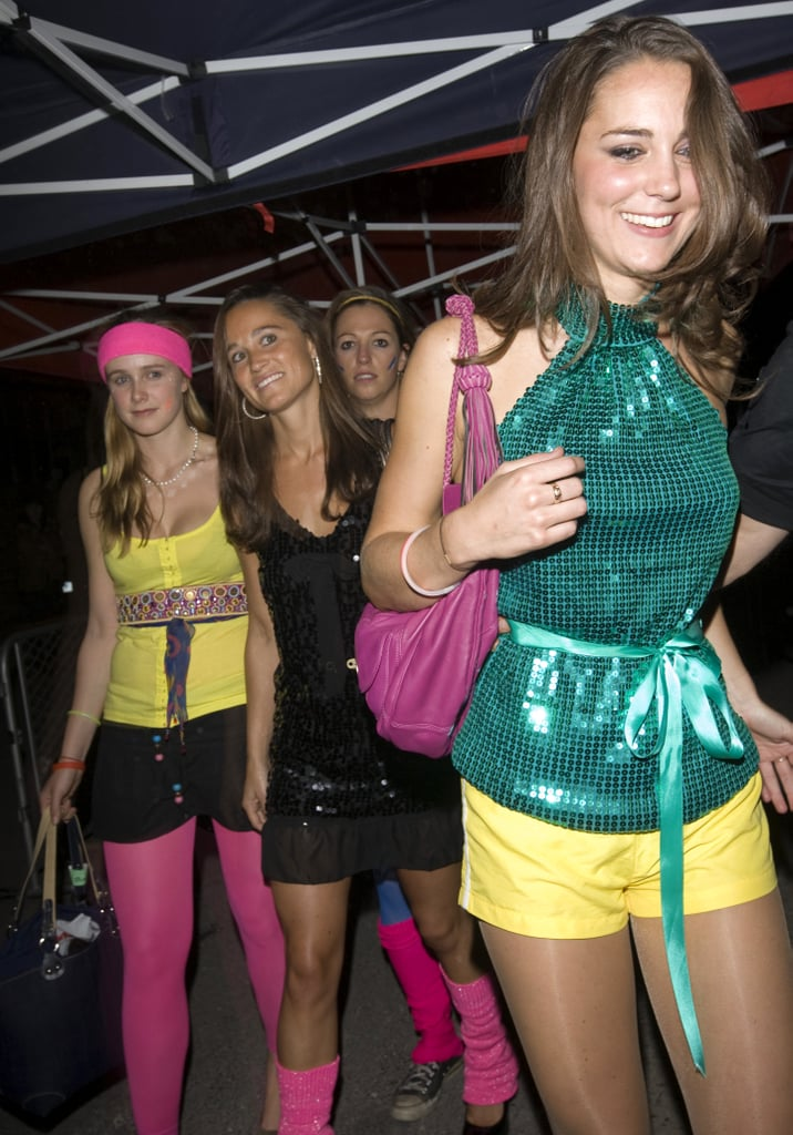 Kate and Pippa were dressed to the nines for a Day-Glo Midnight Roller Disco event in London back in 2008.