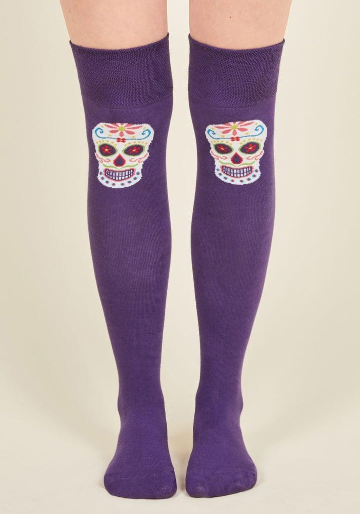 Sugar Skull High Socks