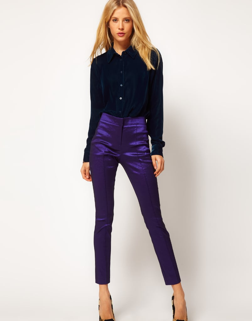 We love how a floaty black button-down looks when tucked into these amazing ASOS Skinny Crop Pants ($52).