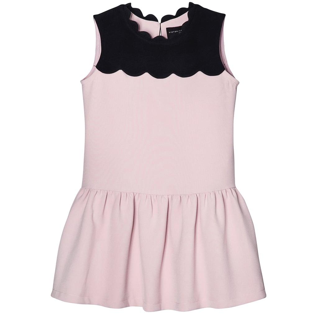Girls' Blush Drop Waist Scallop Trim Dress ($28)