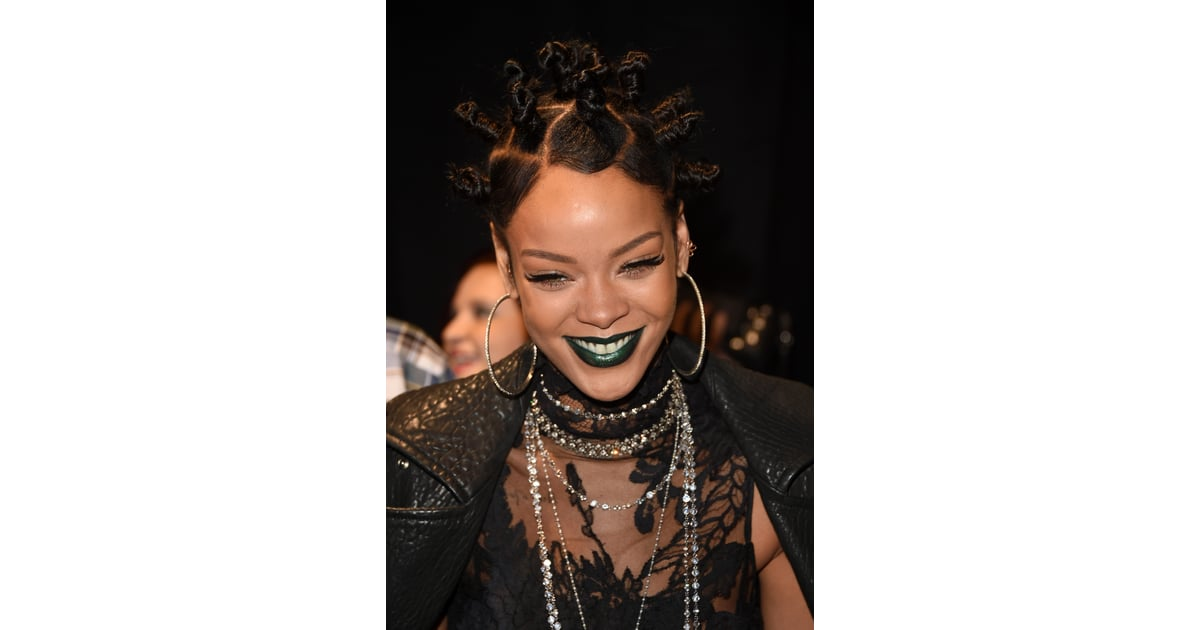 2014 rihannas coolest hair beauty and makeup looks
