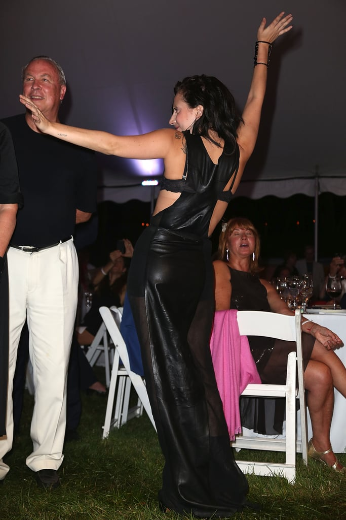Lada Gaga got her dance on at the Watermill Center Summer benefit in July.