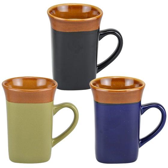 Square Two-Tone Flared-Rim Stoneware Mug ($1 each)