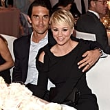 Kaley Cuoco cuddled up with her husband, Ryan Sweeting.