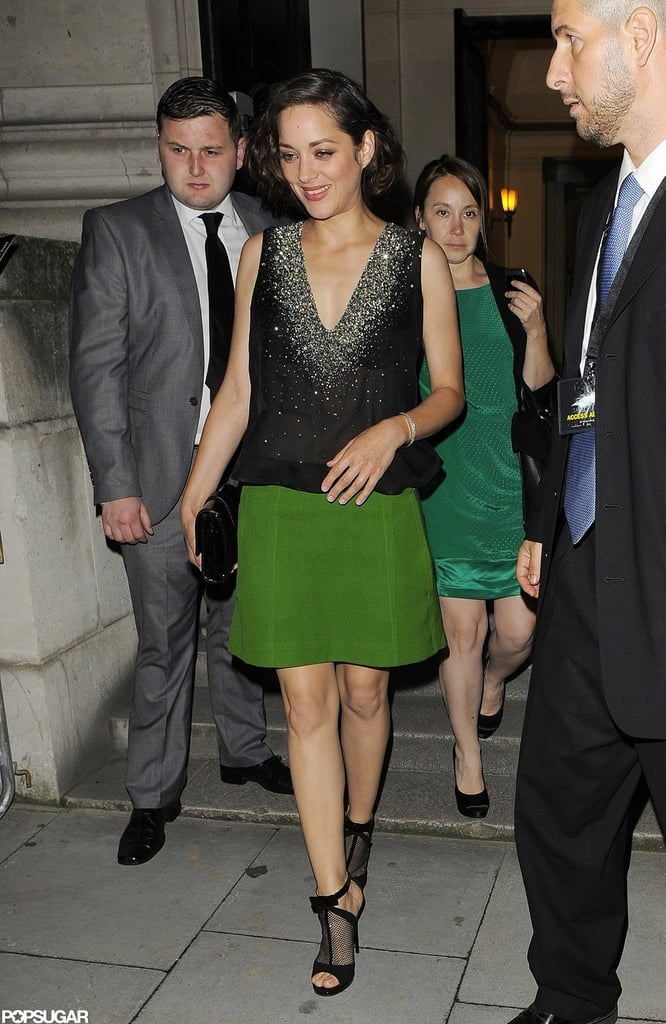 Marion Cotillard was all smiles in London.