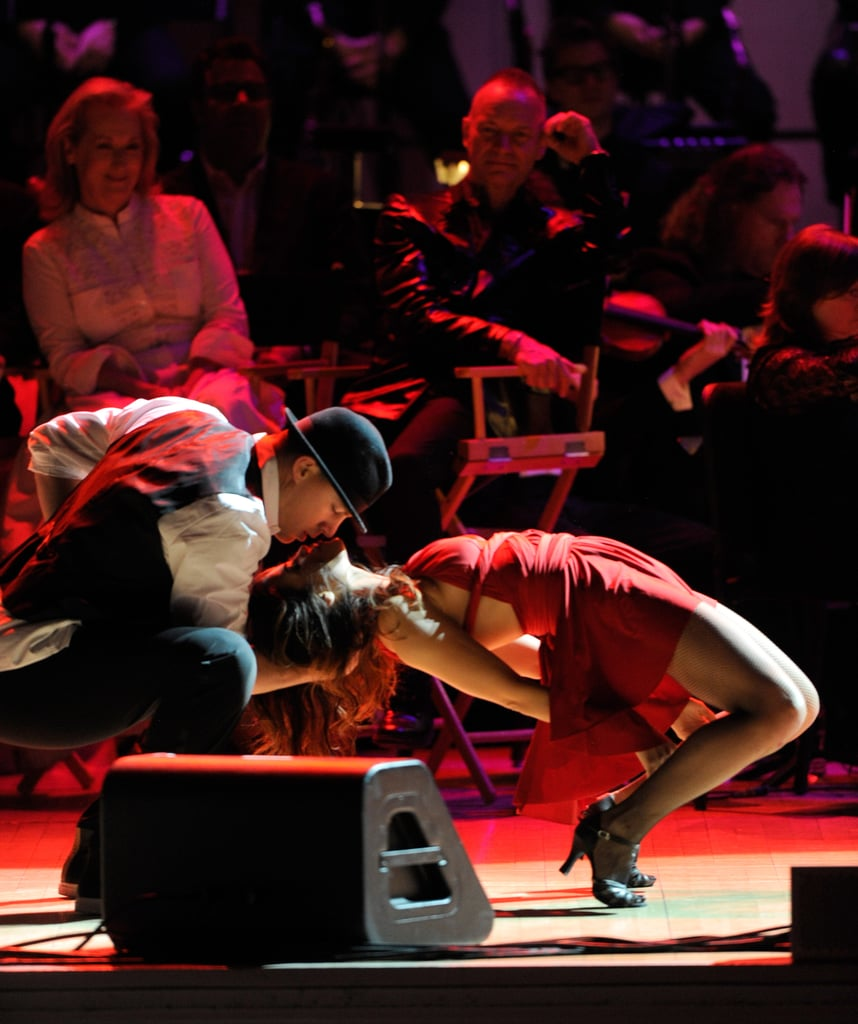 Channing Tatum and Jenna Dewan snuck in a kiss during their performance at the Revlon Concert for the Rainforest Fund at Carnegie Hall in NYC.