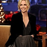 Charlize chatted with the host about her latest film, Young Adult.