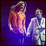 Laura Dundovic was pulled up on stage at the NKOTB and Backstreet Boys concert! Source: Instagram user lauradundovic
