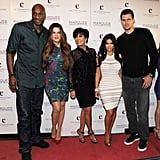 Kim Kardashian had her husband, Kris Humpries, her mother Kris Jenner, her sister Khloe Kardashian, and her brother-in-law Lamar Odom at her Vegas party.