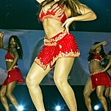 She showed off her moves and curves during a stop in London on her UK tour in November 2003.