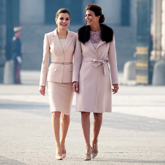 Queen Letizia Wearing Millennial Pink February 2017