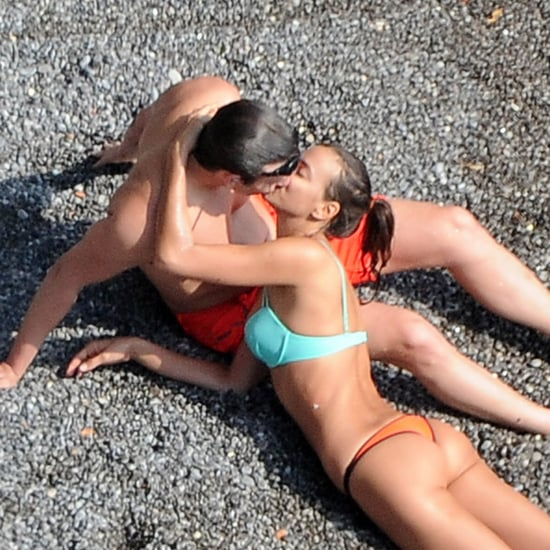 Bradley Cooper and Irina Shayk Beach PDA in Italy Pictures