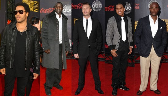 Men on the Red Carpet for the 2007 American Music Awards