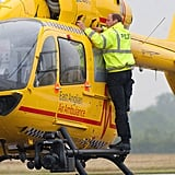 By July 13, It Was Back to Work at His New Helicopter Ambulance Job