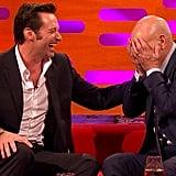 Hugh Jackman Loses it Over Sir Patrick Stewart's Ridiculous Circumcision Story