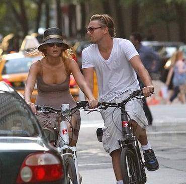 Leonardo DiCaprio and Blake Lively Bike Riding Pictures